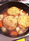 ストウブで簡単煮物(手羽元がんも根菜