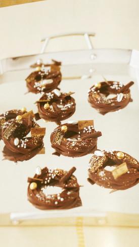 チョコレートのクリスマスリース