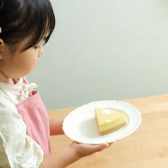 かぼちゃの水玉レアチーズケーキ
