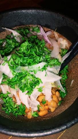 パセリ納豆