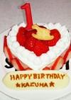 離乳食☆1歳の誕生日ケーキ☆