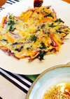 赤水菜のチヂミ お弁当の彩りに!