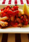 海老とパプリカのディルサラダ