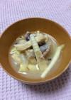 郷土料理。春は鯖缶で筍汁!