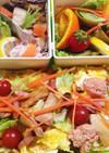 2種オムライス☆ウインナーとハムのお弁当