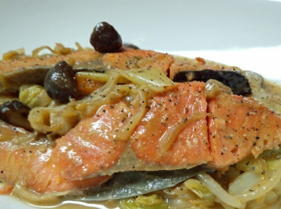 フライパンで鮭のちゃんちゃん焼き