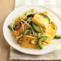 豆腐と野菜のカレー炒め