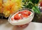 ヨーグルト・苺・苺ジャムのデザート