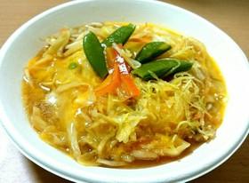 レンジで簡単❗野菜と豆腐の卵かけ甘煮