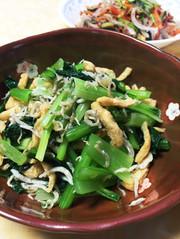 簡単☆小松菜とフンワリ油揚げのおひたしの写真
