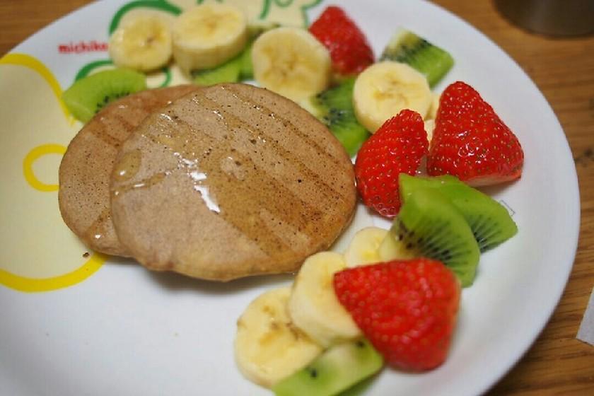 ダイエットに!豆腐とそば粉のパンケーキ☆