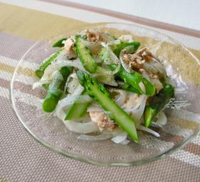 アスパラガスと新玉ねぎのサラダ