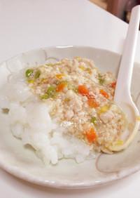 離乳食中期〜 鶏挽肉と豆腐のそぼろあん