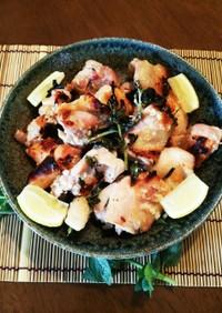 魚焼きグリル☆オレガノ塩麹グリルチキン♪