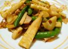 破竹(筍)とスナップえんどうの海老炒め♬