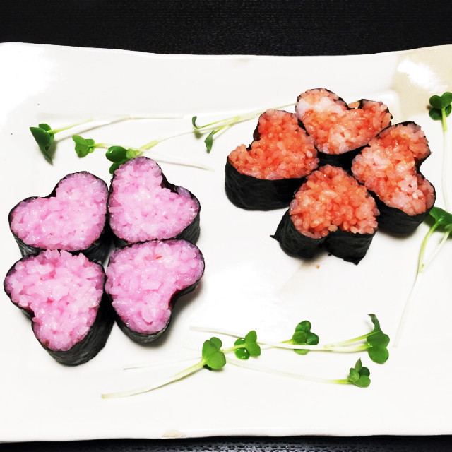 パーティーや誕生日に!ハート飾り巻き寿司