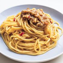 なめたけ風スパゲッティ