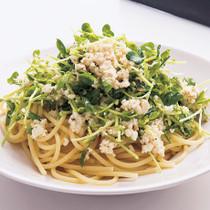 豆腐と豆苗のサラダパスタ