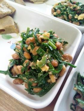 ニラと納豆と卵のサラダ