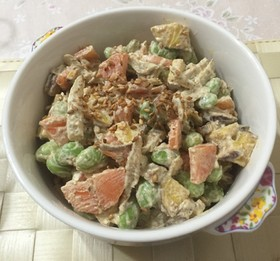育毛!枝豆と根菜のゴママヨサラダ