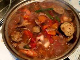 スペイン風シーフード雑炊