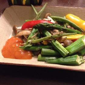 あり合せ野菜のグリルとミラーズマスタード