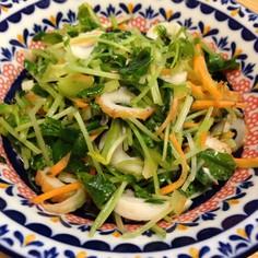 豆苗とちくわの麺つゆサラダ