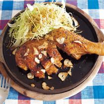 骨付き鶏のトンテキ風