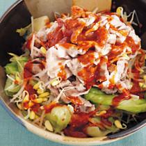 ヤンニョム豚のおかずサラダ