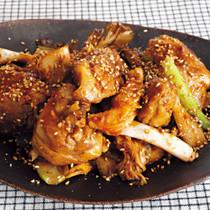 鶏キムチ炒め
