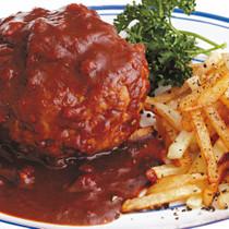 トマトデミグラスハンバーグ