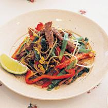牛肉とシャキシャキ野菜のアジアン炒め