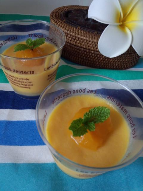 冷凍マンゴーで作るマンゴープリン
