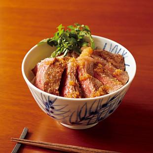 ステーキ丼ジンジャーソース