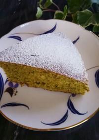 ホットケーキミックスと緑茶葉のケーキ☆