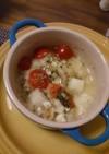 ホタテとお餅のエシャロットソース焼き