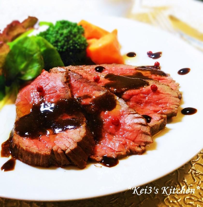牛肉のタリアータ✿バルサミコで✿