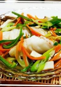 レンジで魚料理♡鱈の彩りレンジ蒸し♪