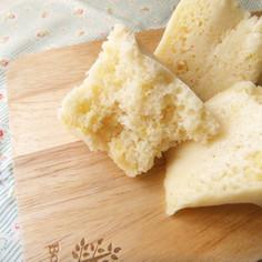 レモンの米粉蒸しパン★もちふわ