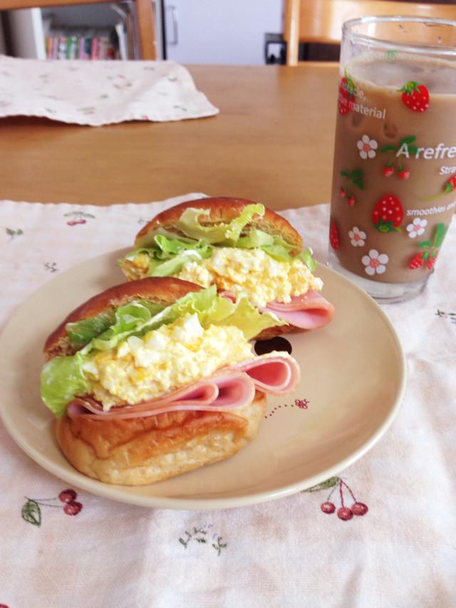 ブランパンで!ハムタマサンド☆糖質制限