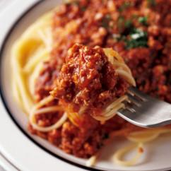ふんわり豆腐ミートソースのスパゲティ