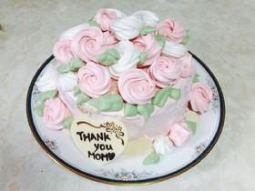 薔薇のブーケ風ケーキ