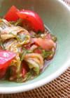 トマト・キムチ・めかぶ 混ぜるだけサラダ