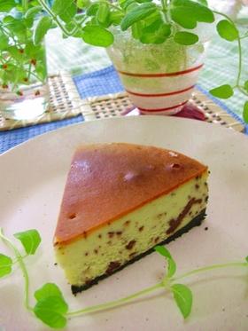 チョコミント☆チーズケーキ