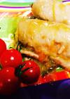お野菜いっぱいテリテリ豚ロースの包み焼き