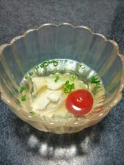 冷やし汁:雑煮(餅入り)の写真