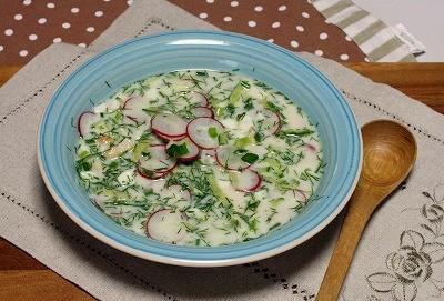 簡単冷製スープ♪ ロシア料理オクローシカ