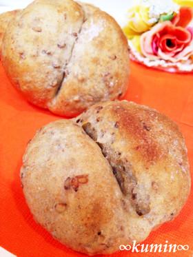 ぷちぷち香ばし♪亜麻仁と玄米粉パン