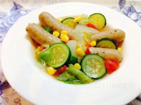 ソーセージの野菜スープ 簡単ダイエット