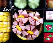 簡単かわいい花ウインナーソーセージお弁当の写真